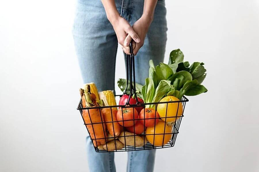 basket-of-vegetables for Egg Health When TTC