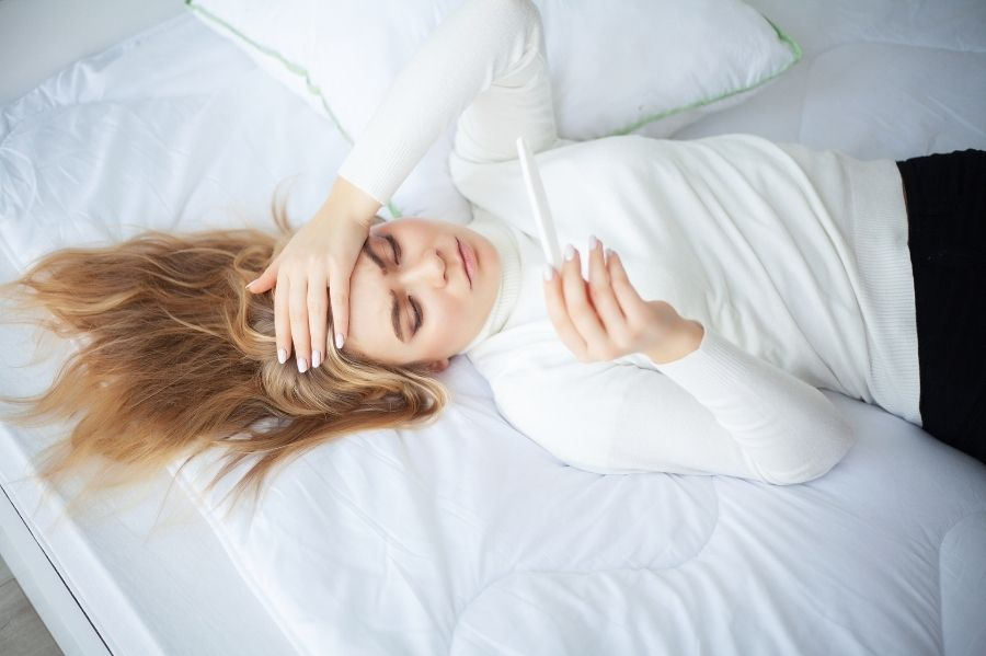 Stress Woman with Negative Pregnancy Test